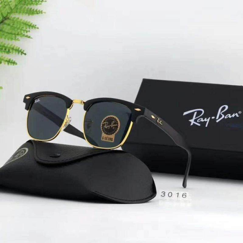 Ray-Ban Rb3016 Classic Sunglasses Clubmaster Variations Black [ready Stock] By City Purchase.