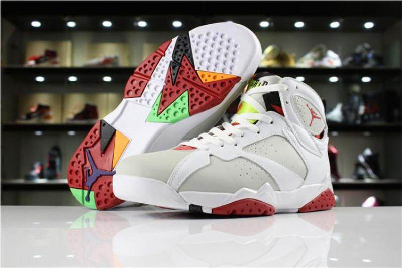 "5fa85fee5882dc Nike Original Michael Jordan 7 MEN Basketaball Shoe White Red Global Sales  Air Jordan MJ AJ ""Hare"""