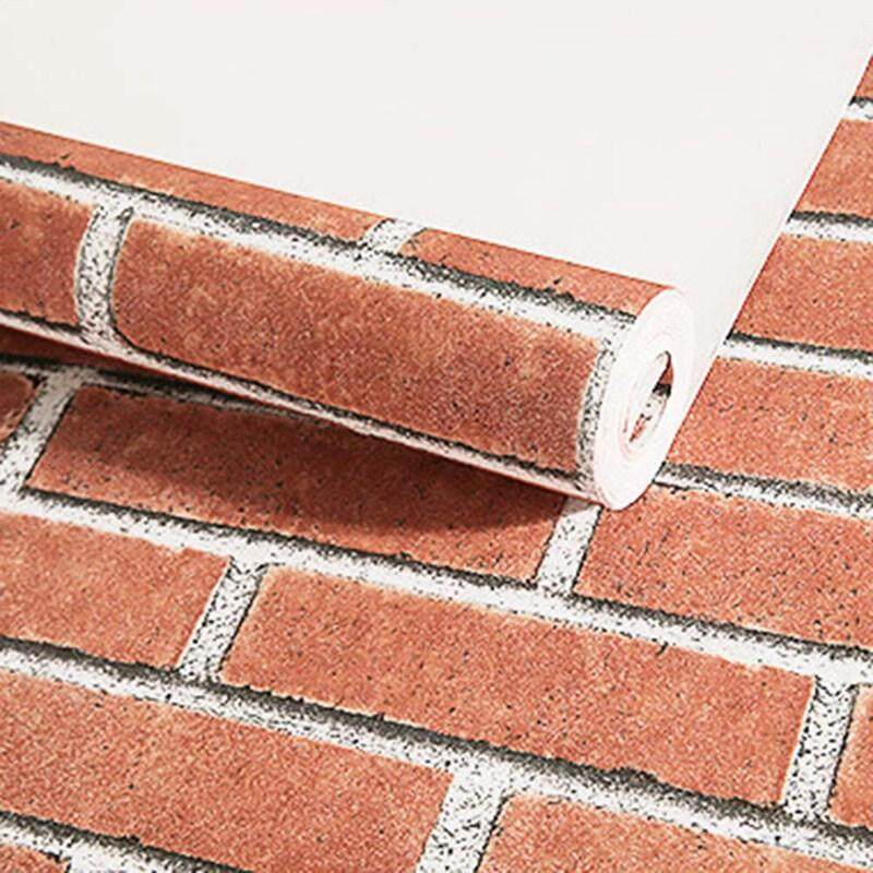 BZY Deep Embossed 3D Brick Wall Paper Modern Vintage Brick Stone Pattern Paper Wallpaper Roll for Living Room Wall Covering Decor