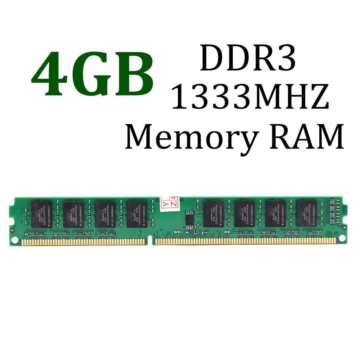 4GB DDR3 PC3-10600 DDR3-1333 MHZ 240-Pin Desktop PC DIMM Memory RAM 1.5V