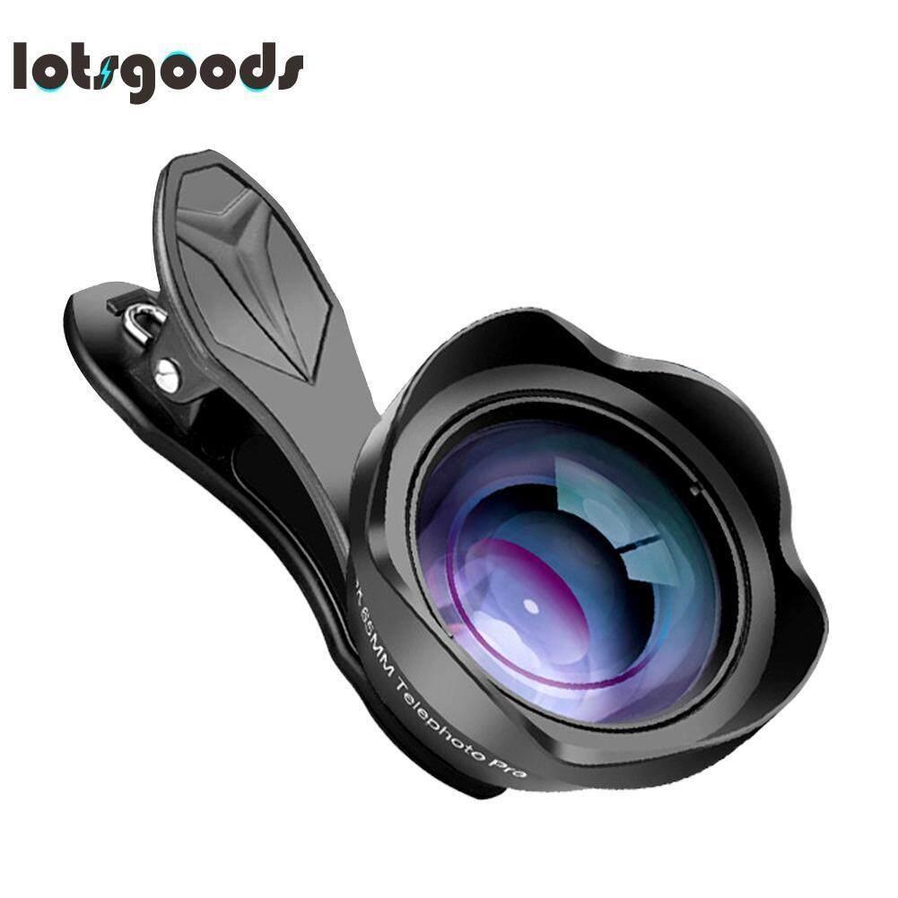 APEXEL APL-65MM Optical Camera Undistorted Blurring Telephoto Phone Lens(Black)