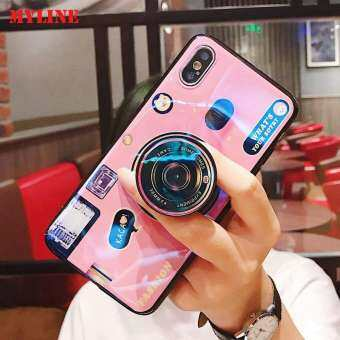 MyLine สำหรับ Samsung Galaxy J4 PLUS J4 + กล้อง Smooth เคสโทรศัพท์นิ่มกรณีที่มีขาตั้งซิลิคอนฝาหลัง-