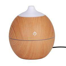(Giao hàng miễn phí cho cả ba chiếc đến Hà Nội)Round Shape Intelligent Induction 7 Color LED USB Wood Grain Ultrasonic Air Humidifier Aromatherapy Diffuser