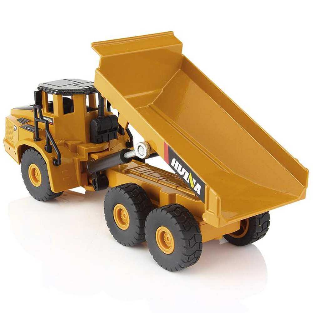 Huremwp 1:50 Simulasi Menarik Kembali Articulated Dump Anak-anak untuk Hadiah Kendaraan Truk