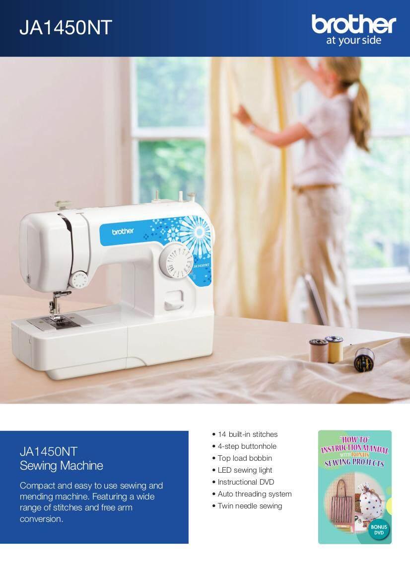 Brother JA1450NT JA-1450NT JA-1450 JA1450 Home Portable Sewing Machine Optional Extension Wide Table - Replace JA1400 Mesin Jahit