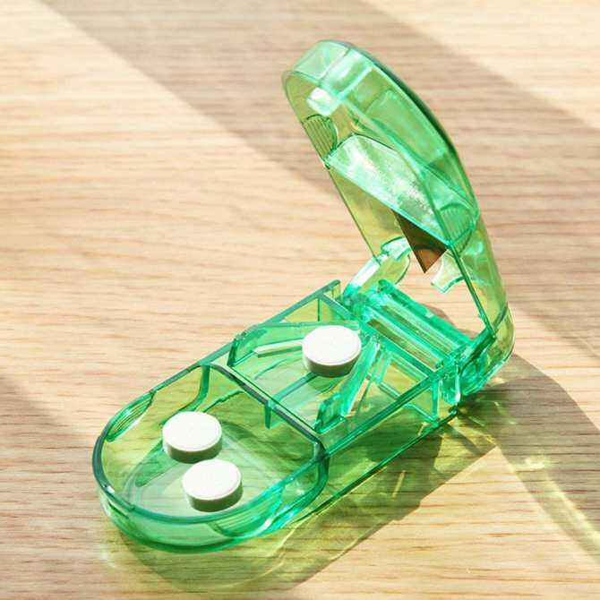 GoSport Portable Travel Medicine Pill Compartment Box Case Storage with Cutter Blade