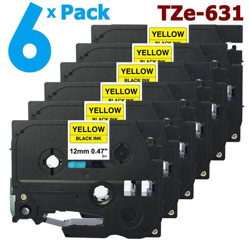 Brother Compatible TZ631 For P-Touch PT300 PT310 12mm Black//Yellow Label Tape