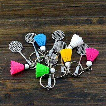 252368165020 Badminton Racket And balls Sports Keyring Pendant Keychain