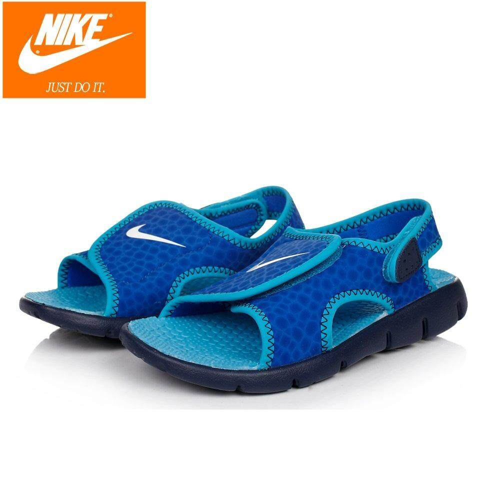 2019 Nike Kids Sunray Adjust 4 Preschool 386518-408 Blue Spots Sandals By Cns461.