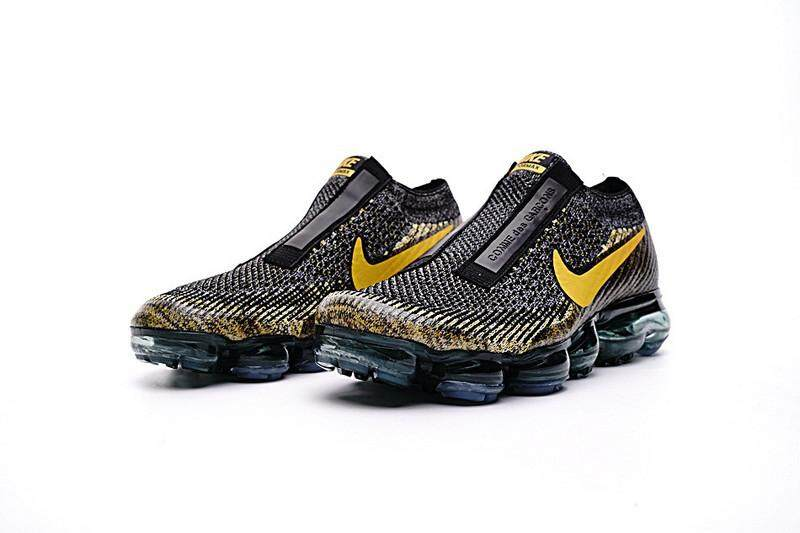 Nike Men's CDG x NikeLab Air VaporMax Running Shoes Fashion Sneakers (Black/Golden)