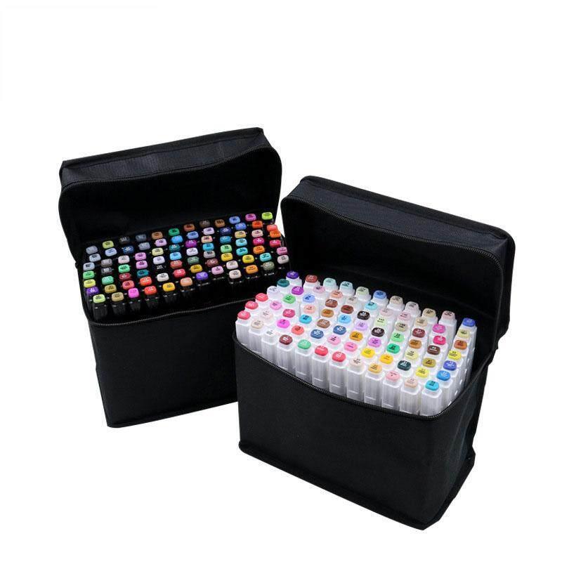 Mua FFROOM 80 cái/bộ 80 Màu Đồ Họa Nghệ Thuật Vẽ Tranh Hoạt Hình Phác Thảo Copic Hai Đầu Bút Đánh Dấu Đồ Họa Nghệ Thuật hoạt Hình Bút Đánh Dấu Cho Đồ Dùng Học Tập