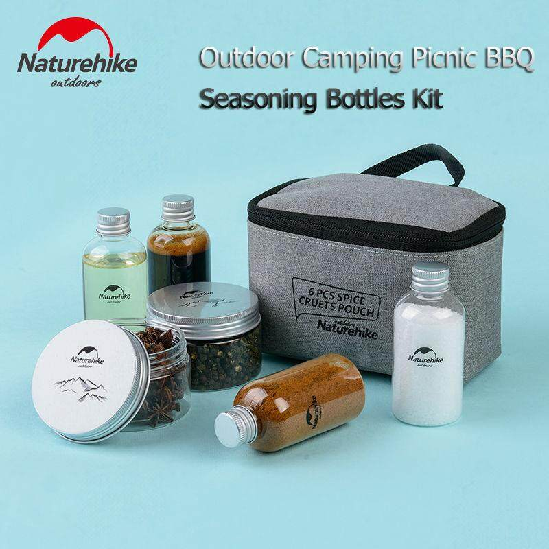 Naturehike Portable Outdoor Camping Seasoning Bottles Cans Kit Well Sealed Picnic BBO Seasoning Containers Travel Kits