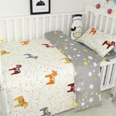 Bộ đồ giường cho bé bộ đồ giường có thể đảo ngược Bộ vỏ gối bộ đồ giường động vật-Ngựa Trojan
