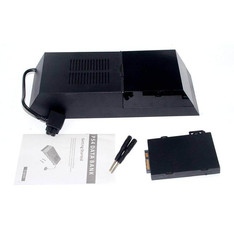 Data Bank Plus Storage Capacity Hard Drive External Box for Nyko PS4 Playstation