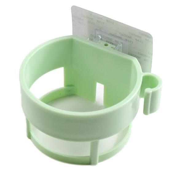 Seamless Sticker Storage Holder Seamless Bathroom Shelf Seamless Tray Hair Dryer Rack Nordic green