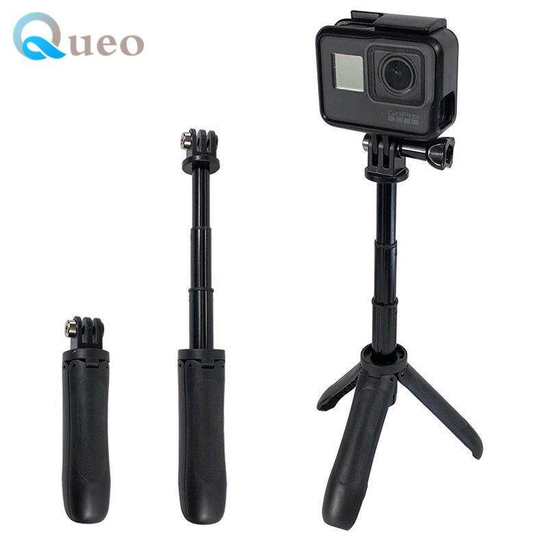 Queo Mini Selfie Stick Tripod Extendable Monopod Mount SHORTY for GoPro Hero 6/5/4/3+