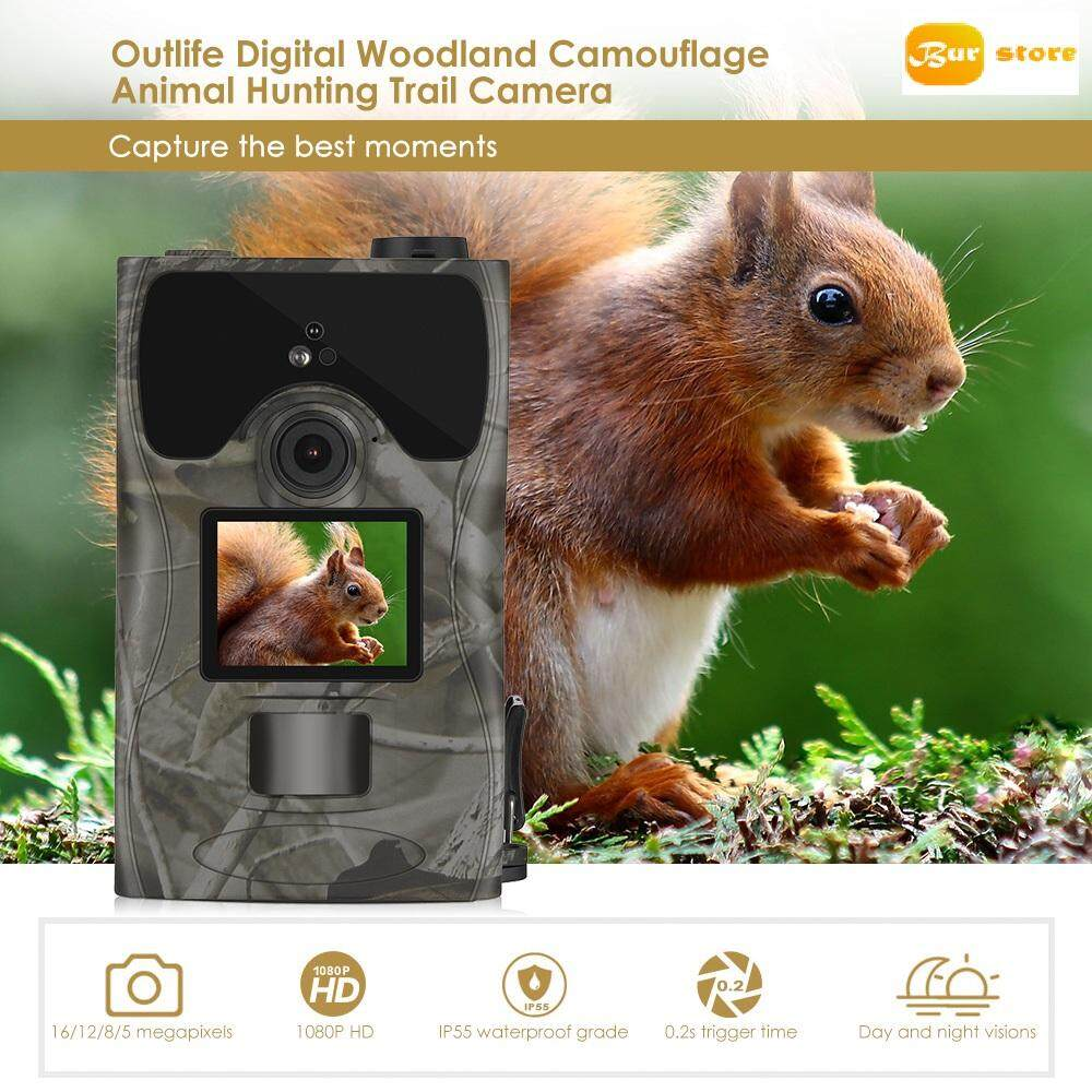 Burstore TCM16C 1080P HD 16MP Digital Trail Hunting Camera Outdoor Night Vision 850nm Wildlife Cameras for Animal Photo Trap
