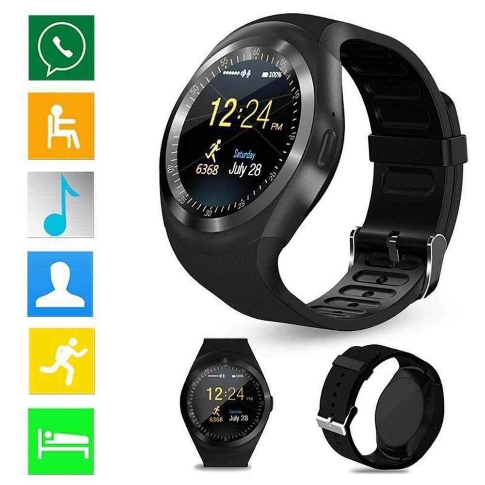 vigo Y1 Smart Watch, Sports Fitness Tracker Bluetooth Wrist Watch with SIM Card and TF Card Slot Camera Message Notification Sleep Monitor for iPhone Samsung and other Android Smartphone