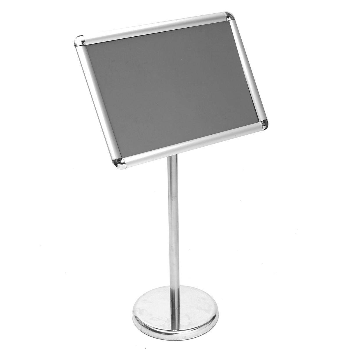ADJUSTABLE HEIGHT CUSTOM FLOOR DISPLAY STAND SIGN HOLDER SNAP POSTER FRAME Rounded corners A3