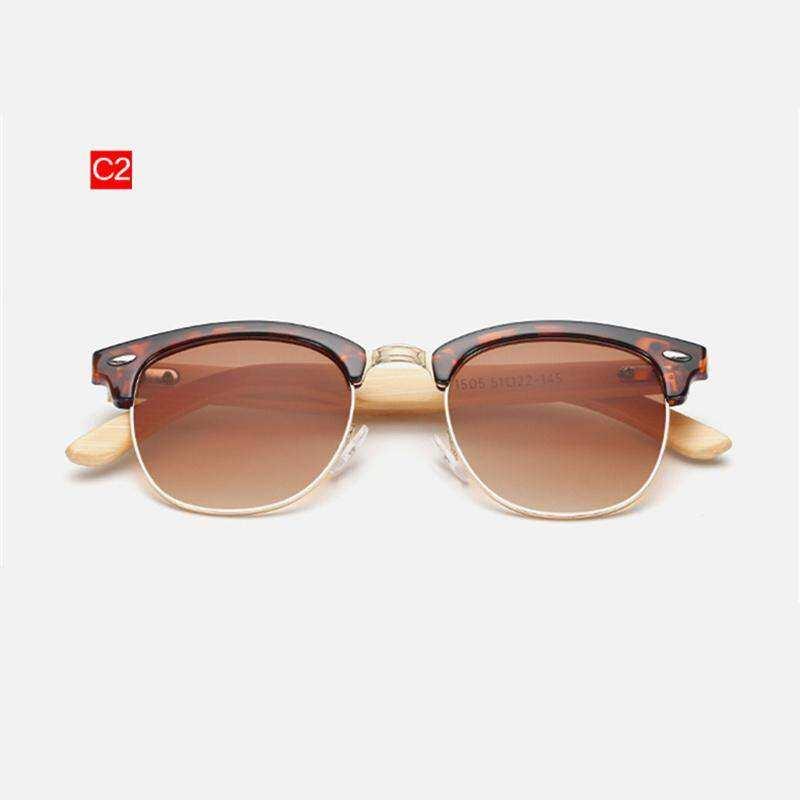 2eee1763fd93b Uvlaik Bamboo Sunglasses Men Women Wood Cat Eye Sun Glasses Classic Retro Wooden  Eyewear Vintage Eyeglasses