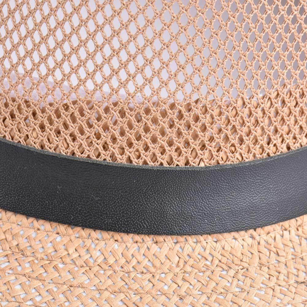 373edec79 Women Spring Summer Sum Cap Hollow Out Wide-Brim Fedora Hats Bowler Floppy  Straw Caps Beach Sunhats