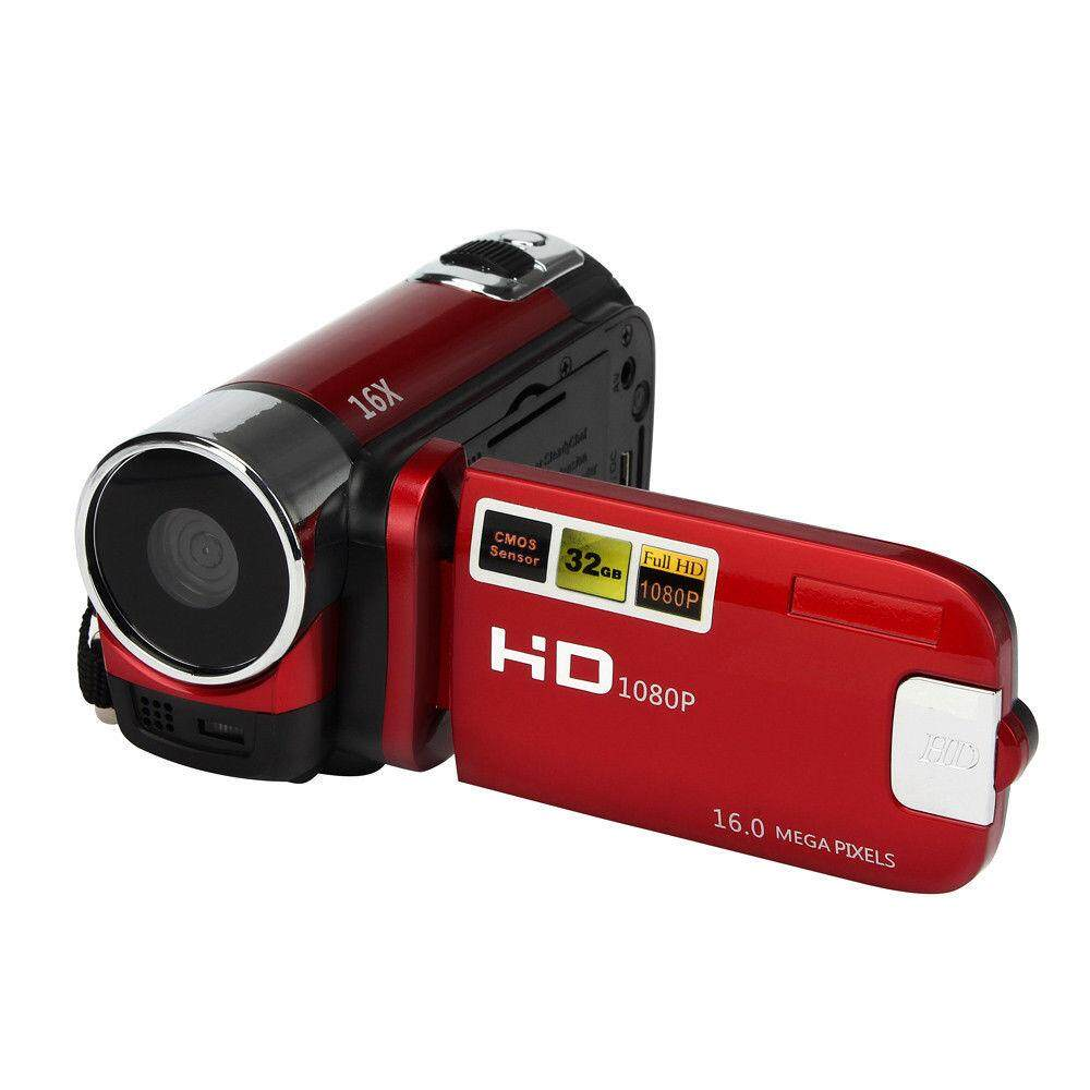 Camera Camcorders, 16MP High Definition Digital Video Camcorder 1080P 2.7 Inches TFT LCD Screen 16X Zoom Camera Recorder Color:Red Specification:American Standard