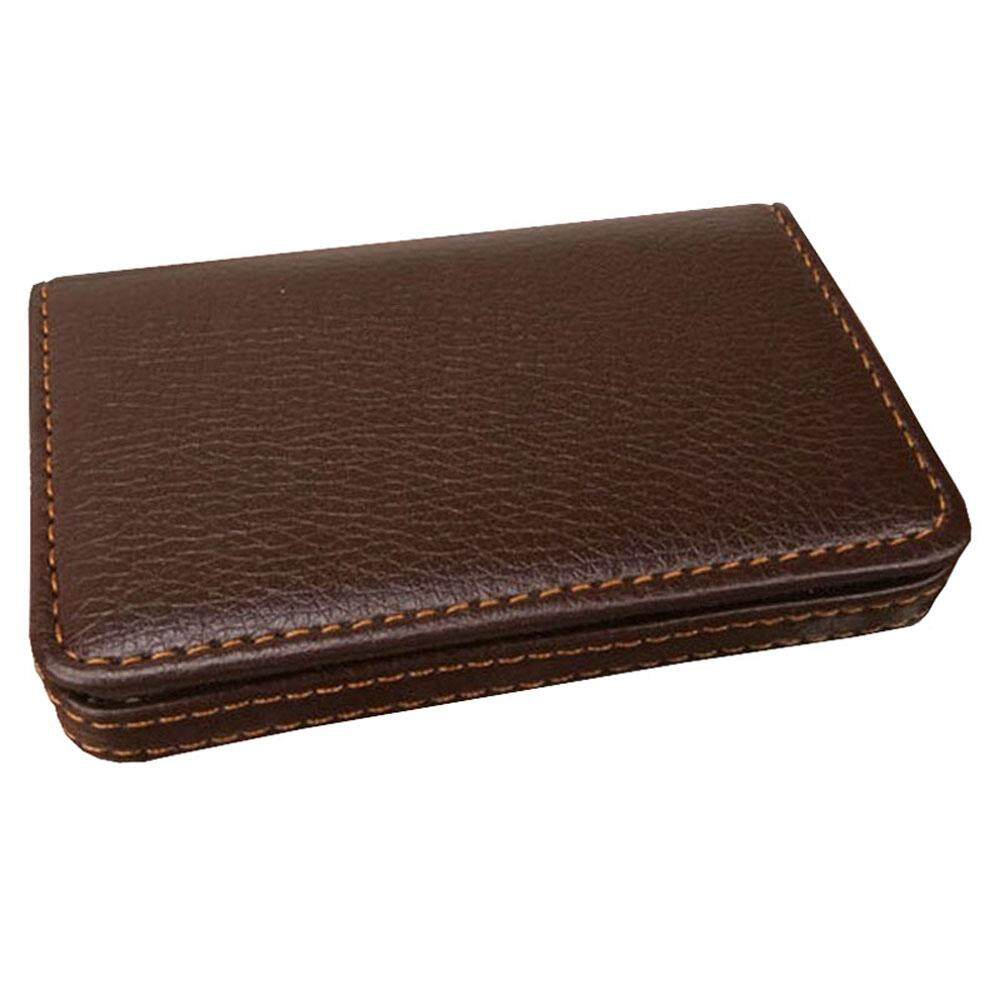 jiechuan Flip Style Synthetic Leather Business Card Holder / Credit ID Card Wallet / Name Card Case ,café
