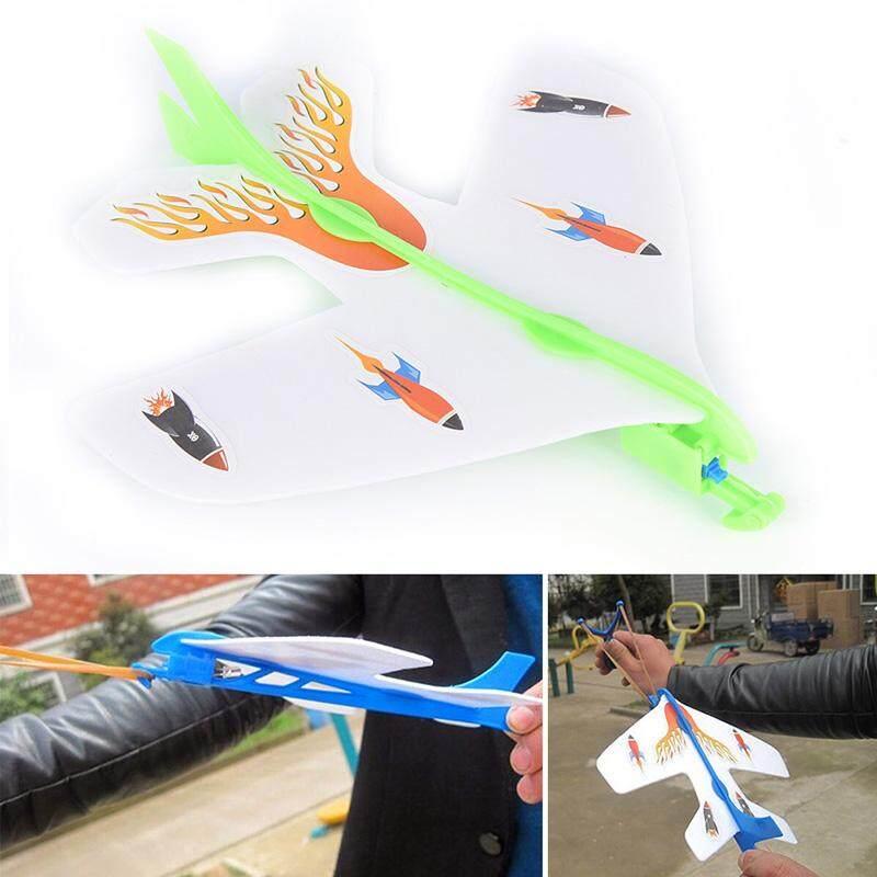 DIY Plastik Busa Elastis Karet Berkedip Ejeksi Cyclotron Pesawat Terbang Model