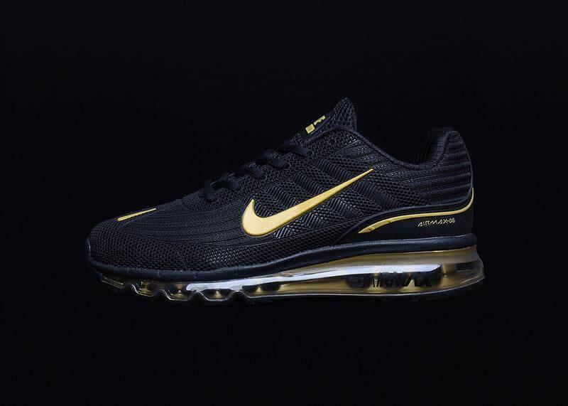 NIKE AIR MAX 97 Men s Running Sneakers Fashion Sports Shoes (Black Golden) 5b16f009b9