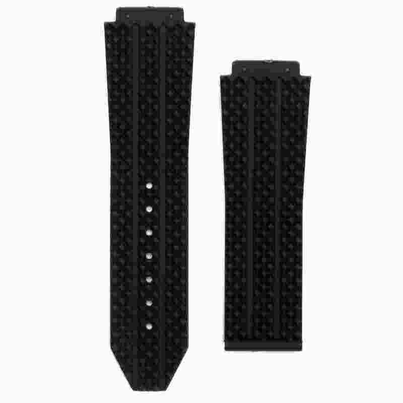 BestTop Hublot Big Bang 25mm Replacement Black Blue Silicone Rubber Strap Strap