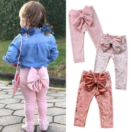 Pretty Kids Baby Girls Princess Bowknot Velvet Bottoms Leggings Pants Trousers Lazada