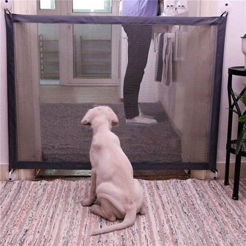 leegoal Pet Dog Safe Guard,Portable Folding Pet Safety Enclosure Isolation Net Install Anywhere