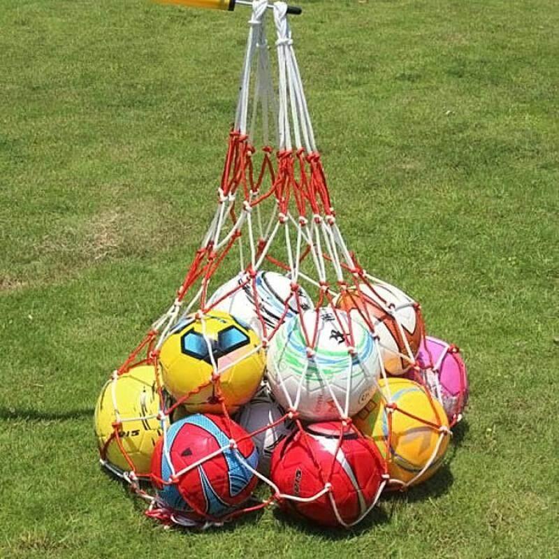 Solid Ball Holder Net/ Ball Carry Net Suitable for Basketball Football Volleyball (12-15 Balls)