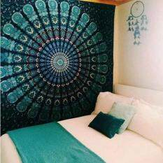 150cmx130cm Boho Wall Carpet Tapestry Mandala Tapestry Crystal Arrays Blue Wall Art Tapestry Indian Decoration Blanket – intl