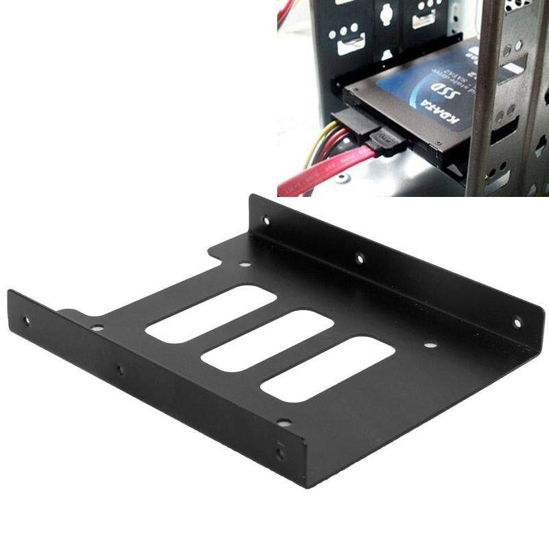 SSD HDD 2.5 inch to 3.5 inch Converter Hard Drive Metal Bracket Adapter Holder(Black)