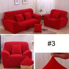 【For Đơn Seats】Solid Căng Mặt Cắt Sofa Mềm Slipcovers Thun Ghế Cover-quốc tế
