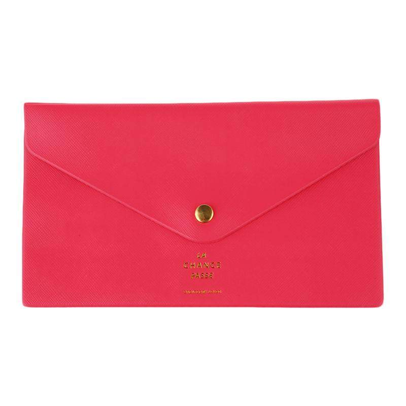 New Ladies Envelope Evening Clutch Bag Women Ladies Purse Wallet Long Handbag Colors:Rose Red