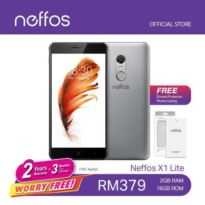 TP-Link Neffos X1 Lite (2 Years Warranty, Fast Fingerprint Sensor, Octa-Core CPU, Android 7.0, 4G Dual Sim, Grey/Gold)