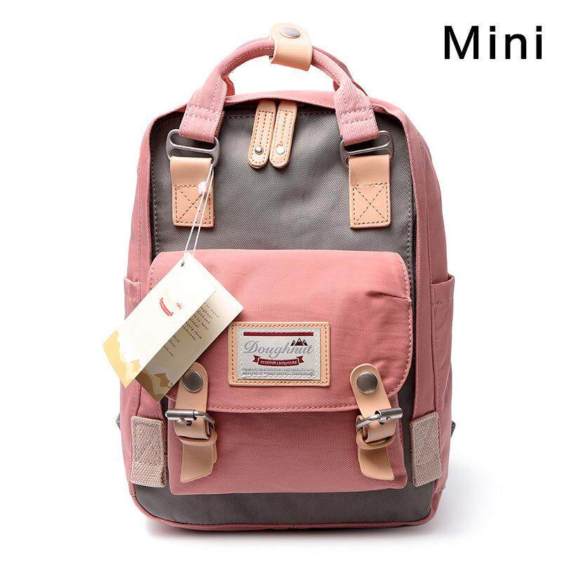 Doughnut backpack, mini Korean school bag, contrasting cute bag, mother and child bag