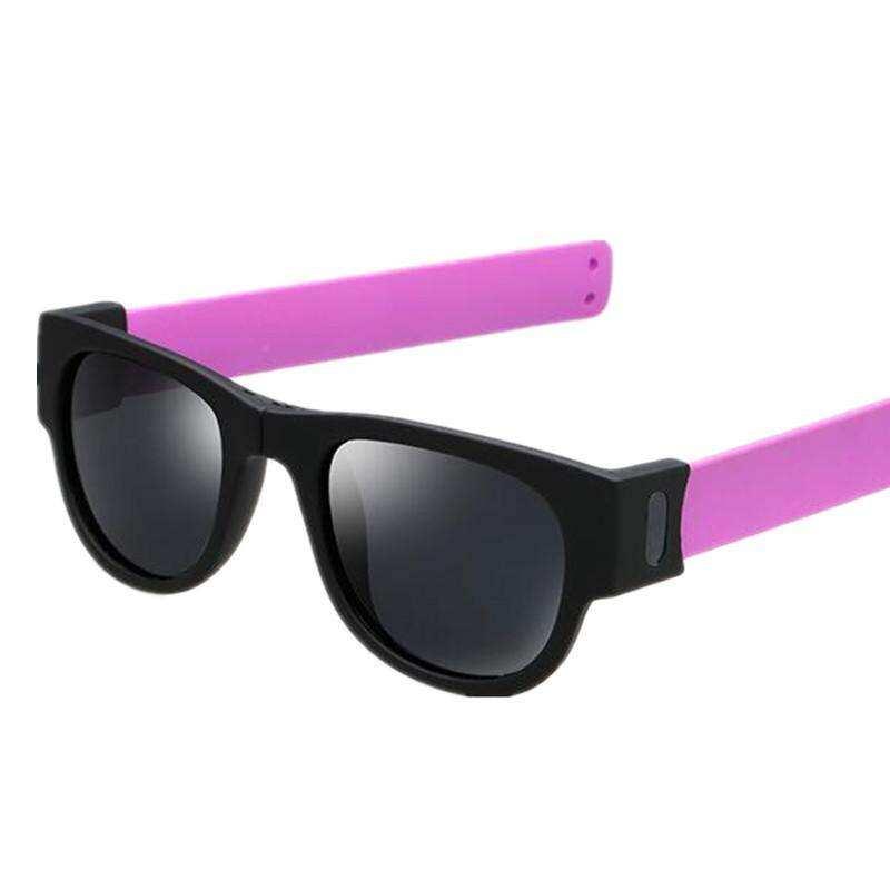 97c0ad6e30605 2018 New Sunglasses Women Slappable Bracelet Sun Glasses for Men Wristband  Fold Shades Oculos Colorful Fashion