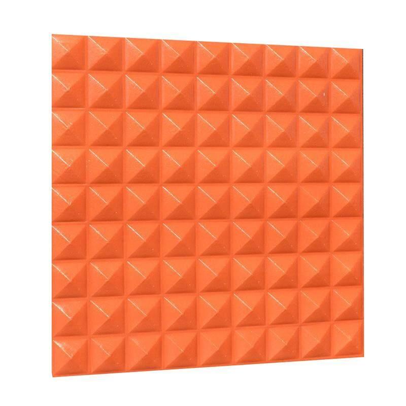 3D Three-dimensional Wall Panels DIY Self-adhesive Waterproof Creative Wallpaper Home Clothing Shop Furniture Store Mural Art Decoration orange
