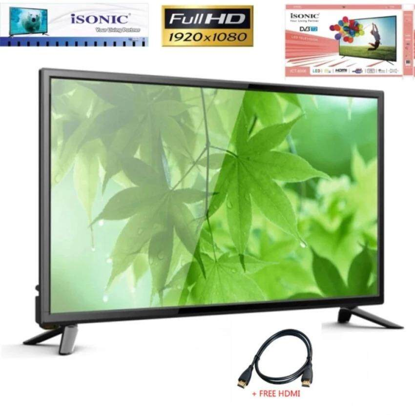 "iSONIC  Isonic 55"" Full HD DVB-T2 Digital LED TV ICT-5506 With USB Movie*Play + Free HDMI"