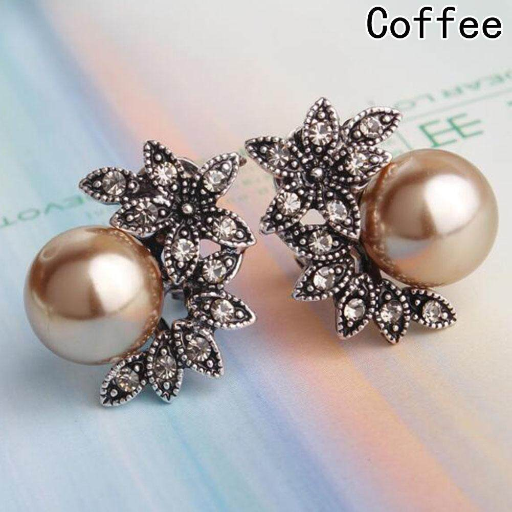 Material:Alloy Size:1.8*2.5cm. Colour:Coffee,Grey,White Quantity: 1 Pair