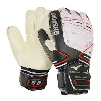 Football Goalkeeper Gloves Latex Training Goalie Soccer Gloves Size9 Black