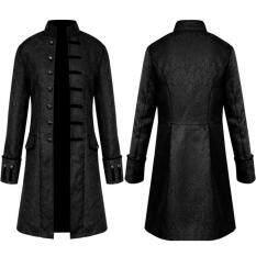 Rainny Nam Mùa Đông Ấm Áp Vintage Tailcoat Áo Khoác Áo Liền Quần Áo Khoác Ngoài Nút Áo
