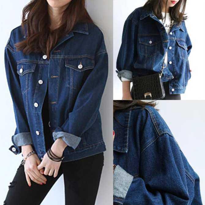 Autumn Women Denim Jacket Vintage Harajuku Oversize Female Jeans Coat