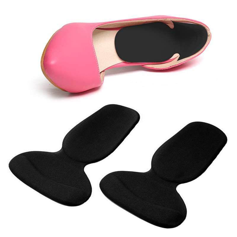 WULI 1 Pair Soft Silicone Gel High Heel Liner Grip Back Shoe Insole Pad Foot Care Protector Cushion Black