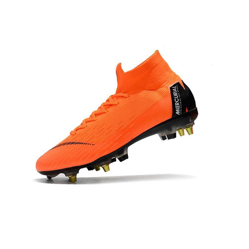 reputable site 57628 689f1 2018 New High Ankle Football Boots Superfly Original Knit 360 Elite SG AC Men s  Soccer Shoes
