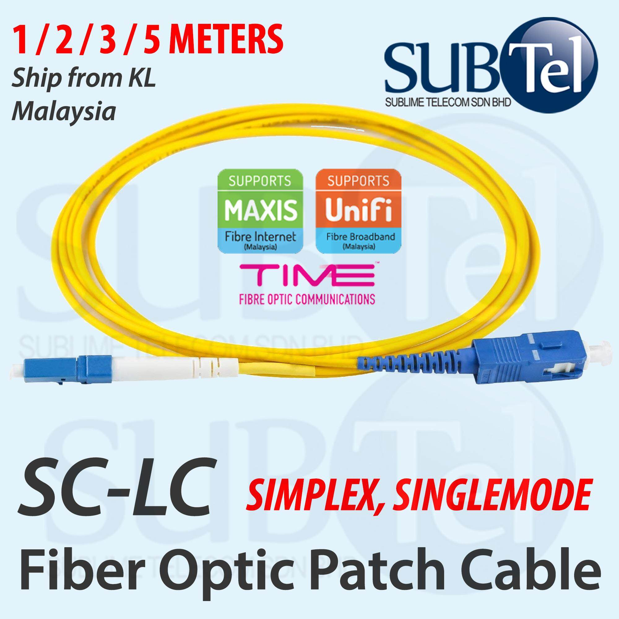 10M SC-ST Simplex 9//125 SingleMode SM Fiber Optic Cable Patch Cord  Jumper