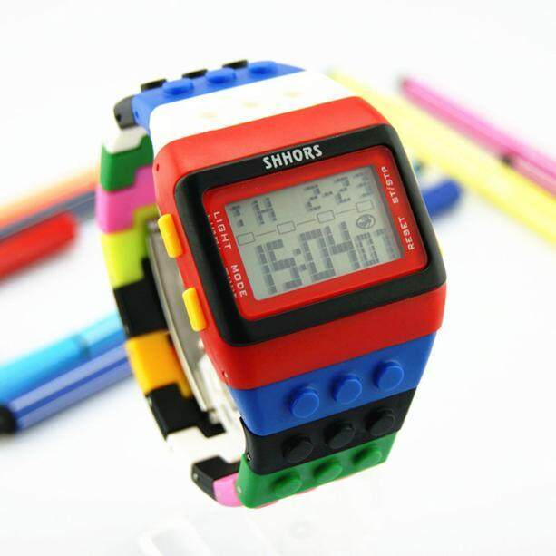 Antiveas Warna-warni Unisex Pergelangan Tangan Digital Watch-Intl